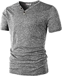 H2H Mens Casual Henley T-Shirts Short Sleeve Relaxed Fit of Various Styles