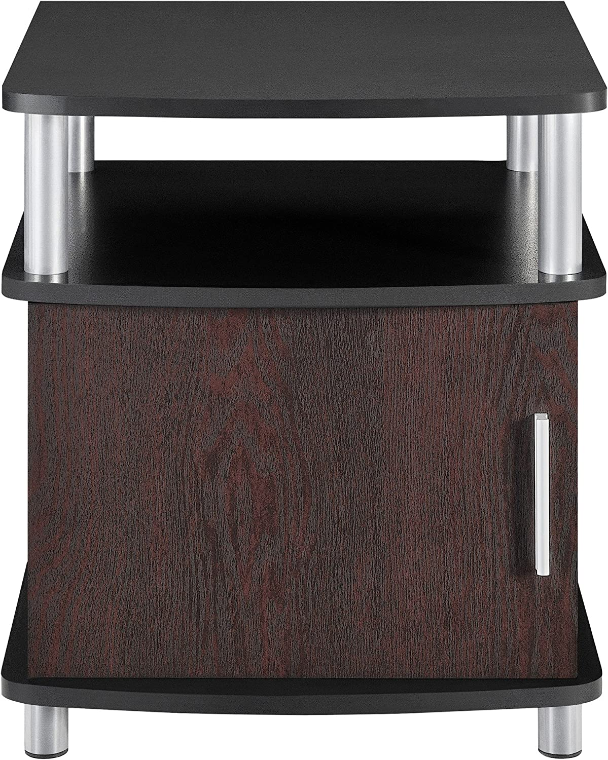 Altra Carson End Table with Storage, Cherry Black