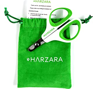 Harzara Professional Pet Nail Clippers. Best for a Cat, Puppy, Kitten. Bonus Storage Bag & Instruction Card. Large Rubbere...