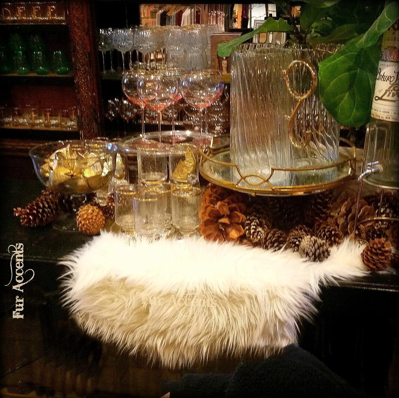 Christmas Classic Shag Fur Table White Shaggy Selling rankings Snow Sheeps 55% OFF Runner