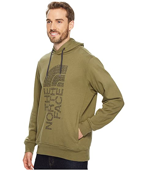 Burnt Green Pullover Hoodie The Face Asphalt Trivert North Gray Olive nwC6wqX0H