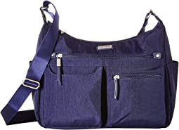 """New Classic """"Heritage"""" Anywhere Large Hobo with RFID Phone Wristlet"""
