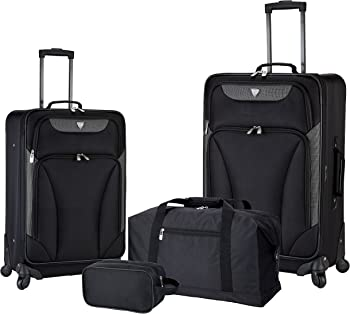 Travelers Club 4-Piece Expandable Spinner Luggage Set
