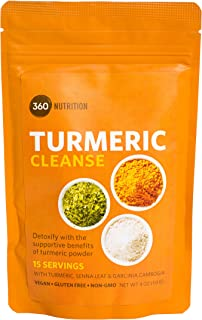 Turmeric Cleanse, Detoxify with Turmeric, Senna Leaf, Garcinia Cambogia, 15 Servings