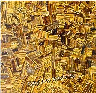 Regalos y artefactos 30 pulgadas forma cuadrada mármol mesa de reunión mosaico arte ojo de tigre piedras preciosas se pued...