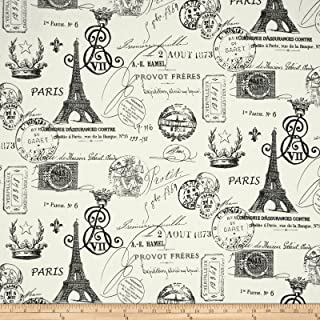 Premier Prints French Stamp Twill Grey Fabric By The Yard