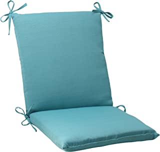 Pillow Perfect Outdoor Forsyth Squared Chair Cushion, Turquoise