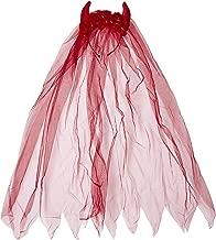 Rubie's Women's Villainous Veil, red, One Size