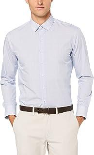Van Heusen Men's Slim Fit Mini Jet Print Business Shirt