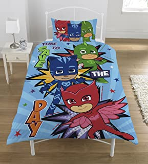 PJ Masks Save The Day UK Single/US Twin Unfilled Duvet Cover and Pillowcase Set