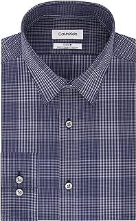 Men's Dress Shirt Non Iron Stretch Slim Fit Point Collar...