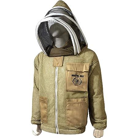 3 Layer Ultra Ventilated Bee Beekeeper Beekeeping jacket Fencing Veil Large