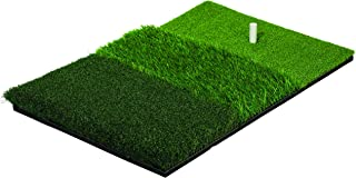 Franklin Sports Tri-Turf Golf Hitting Mat with Rubber Tee - Practice Aid Golf for All Levels - Portable Hitting Grass for Golf Driving