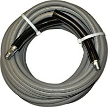 JGB Enterprises Eagle Hose Eaglewash I Wrapped Grey Modified Nitrile Pressure Washer Hose Assembly, 3/8