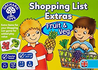 Orchard Toys Shopping List Extras Pack Fruit and Veg Game, multi-colour, Board Game, 090