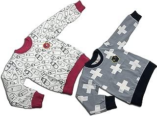 Michael's Originals 中性款幼儿 2 件套运动衫(3 岁,灰色-牛奶)