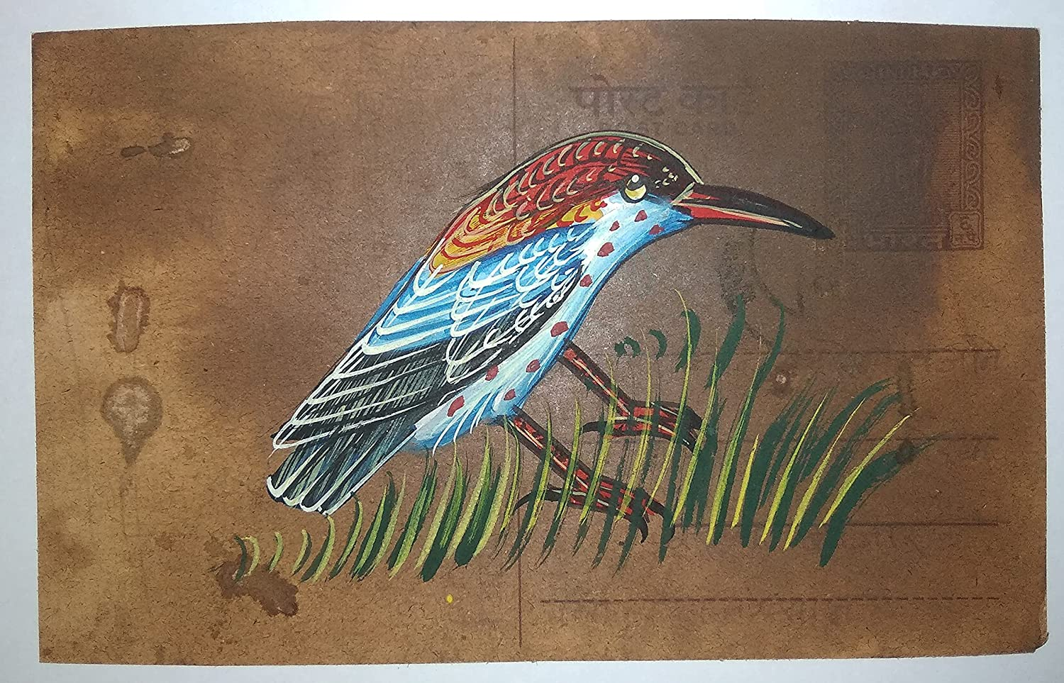 Bird Painting 67% OFF of fixed price Handmade Miniature P New mail order On Charming Old