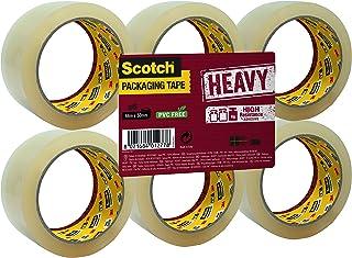 Scotch HV5066FT verpakkingstape HEAVY, 6 rollen, 50 mm x 66 m, transparant