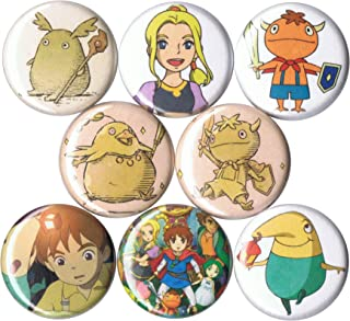 Set of 8 Ni No Kuni 1 pins//buttons//badges