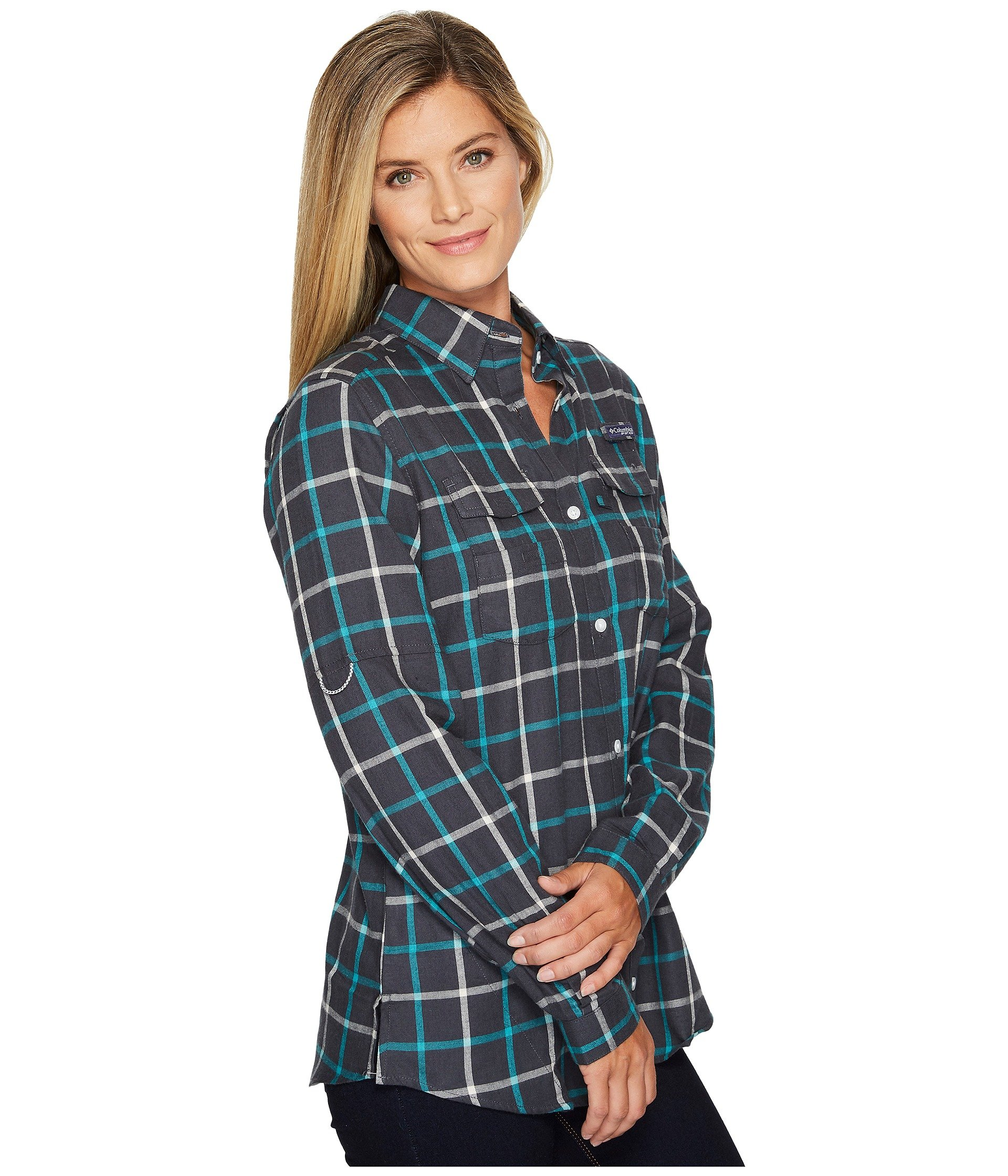 Columbia bonehead flannel long sleeve shirt at for Athletic cut flannel shirts