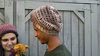 db961dec60810e Crochet Slouchy Beanie, Women's Winter Hat, Men's Winter Hat, Slouchy Beanie  ...