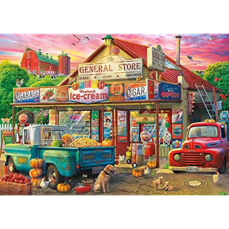 """Buffalo Games - Country Store - 500 Piece Jigsaw Puzzle Multicolor, 21.25""""L X 15""""W"""