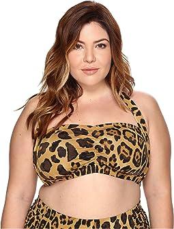 LAUREN Ralph Lauren - Plus Size Leopard Retro Halter