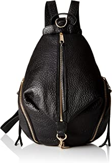 rebecca minkoff black leather backpack