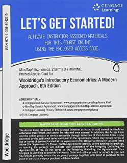 MindTap Economics, 1 term (6 months) Printed Access Card for Wooldridge's Introductory Econometrics: A Modern Approach, 6th