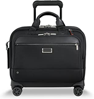 @work Medium Spinner Briefcase, Black