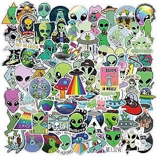 DUANG 100PCS Alien Stickers Cool Alien Accessories Vinyl Waterproof Stickers for Kids Teens Adults Water Bottle Laptop Sui...