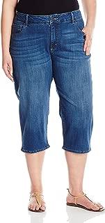 Women's Plus-Size Ultra Soft Denim Capri