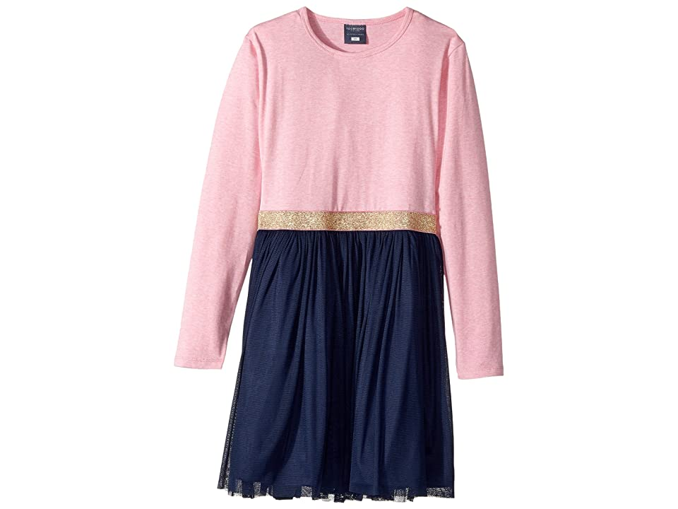 Toobydoo Tulle Party Dress (Infant/Toddler/Little Kids/Big Kids) (Pink/Navy) Girl
