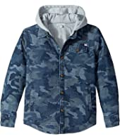 Appaman Kids - Glen Full Lined Hooded Flannel Sweatshirt (Toddler/Little Kids/Big Kids)