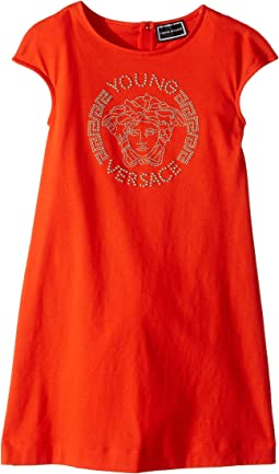 Versace Kids - Cap Sleeve Dress with Medusa Logo (Big Kids)