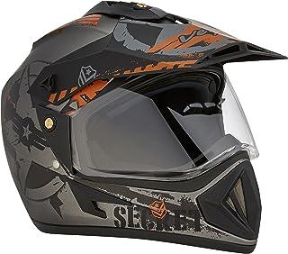Vega Off Road D/V Secret Dull Anthracite Black Helmet-M