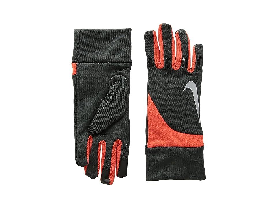 Nike Kids Gear Up Gloves Set (Little Kids) (Anthracite/Total Orange) Extreme Cold Weather Gloves