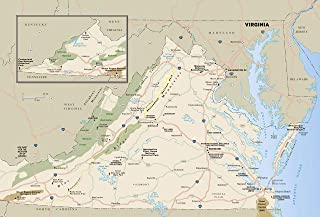 detailed map of the state of virginia
