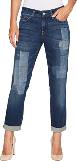 NYDJ Boyfriend Jeans w/ Laser Patch and Embroidery in Horizon