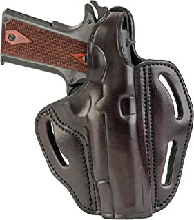 1791 GUNLEATHER 1911 Holster - Thumb Break Leather Holster - Cocked and Locked Carry - Right Hand OWB Holster for Belts - Fit 4