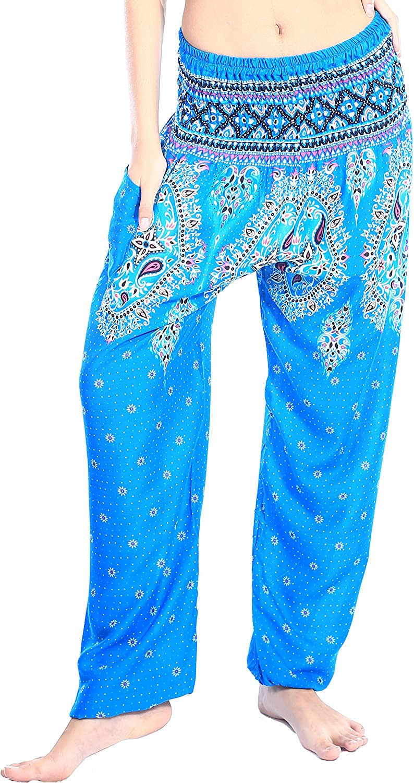 Womens Rayon Pants Mini Shorts Bohemian Hippie Beach Clothing Paisley Hot Pink S35