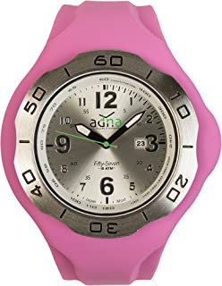 ADNA XXL 57SP Belgian Designed Interchangeable Silver color dial and Purple Silicone Band Watch