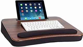 Sofia + Sam All Purpose Memory Foam Lap Desk (Wood Top) with Tablet Slot - Supports Laptops Up to 17 Inches