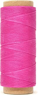 Mandala Crafts 0.45mm Leather Sewing Hand Stitching Jewelry Craft Round Waxed Thread String Cord (0.45mm, Hot Pink)