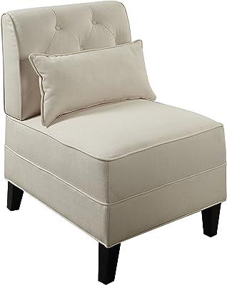 ACME Furniture 59611 Susanna Accent Chair with Pillow, Cream Linen