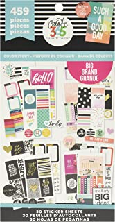 The Happy Planner Sticker Value Pack for Big Planner - Color Story Theme - Multi-Color - Great for Projects, Scrapbooks & Albums - 30 Sheets, 459 Stickers Total