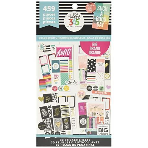 me & My Big Ideas PPSV-13-2048 The Happy Planner Sticker Value Pack, Big Color Way