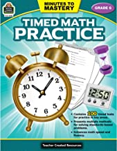 Minutes to Mastery - Timed Math Practice Grade 6: Grade 6