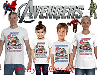 Avengers Birthday Shirt, Add Any Name and Age, Family Matching Shirts, Avengers Shirts, Superheroes Shirts, Visit Our Shop