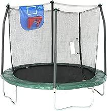 Skywalker Trampolines 8-Foot Jump N' Dunk Trampoline with Enclosure Net– Basketball Trampoline
